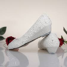 wedding shoes low wedges bridesmaid shoes white ivory pearl wedding shoes fashion low wedge