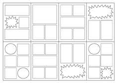 make your own comic strip visual journal or illustration