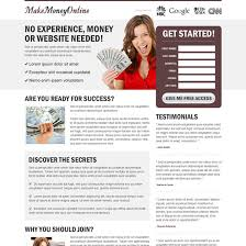 money online landing page design templates to earn money online page 2