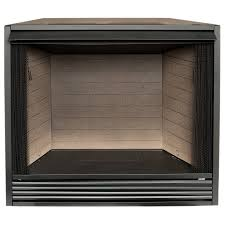 shop procom 43 in w black vent free gas fireplace firebox without