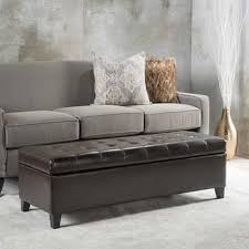 Leather Storage Bench Ottomans U0026 Benches Costco
