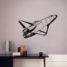 compare prices on space shuttle rocket online shopping buy low space shuttle space wall decals vinyl art wall sticker removable pvc stickers home decor kids bedroom