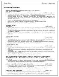 best resume format for nurses resume format sle resume careerdirections