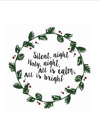 silent night wood plaque free christmas silent night printable