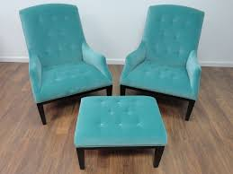 Turquoise Chair Fabiole Tufted Chair In Aqua Velvet Mecox Gardens