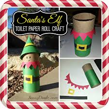 santa u0027s elf toilet paper roll craft for kids christmas art