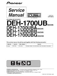 pioneer deh 1700ub uba ubb ubg 1 pdf solder soldering