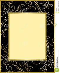 black and gold card with floral background eps royalty free