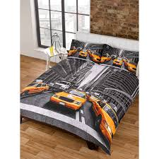 New York Bed Set New York Yellow Taxi Duvet Set One Duvet Cover And Two