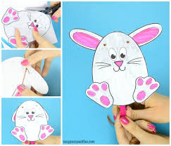 easter bunny movable easter bunny paper doll easy peasy and