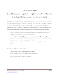 guide for career in clinical research