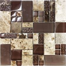 Stone Mosaic Tile Kitchen Backsplash by Sample Brown Pattern Imperial Marble Stone Glass Mosaic Tile