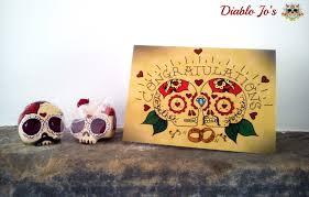 congratulations wedding card sugar skull congratulations wedding card day of the dead