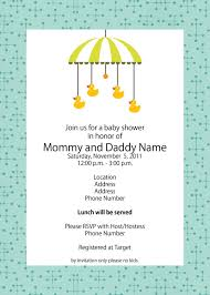 Samples Of Invitation Card Baby Shower Template Word Mughals
