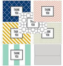 modern thank you 36 thank you cards 6 designs