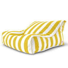 Chaise Lounge Armchair Striped Outdoor Bean Bag Chaise Lounge Chair U2013 Yellow White