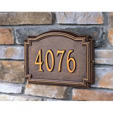 home decor address charming personalized stone address plaques for stylish facade