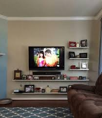 Floating Shelves Entertainment Center by Best 25 Floating Tv Shelf Ideas On Pinterest Floating Tv Stand