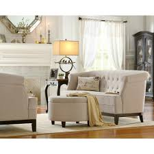 home decorators collection emma textured natural chenille loveseat