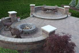Natural Stone Patio Ideas Paver Patio Designs With Fire Pit Fire Pit Design Ideas