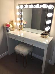 ikea makeup vanity makeup table with mirror and lights ikea heart shape desk 4 drawer