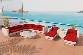 viro fiber sectional sofa outdoor patio furniture set 8sw