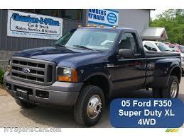 Ford F350 Truck Used - 2005 ford f350 super duty xl regular cab 4x4 dually in true blue