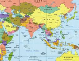 map of asia countries and cities map of asia with capitals major tourist attractions maps