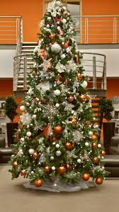 pretty orange christmas tree decorations creative christmas
