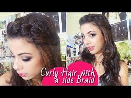 how to curl loose curls on a side ethnic hair side braid with soft curls braided hairstyle bohemian