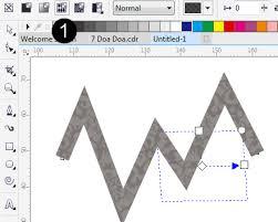 membuat gambar transparan di corel draw x7 modifikasi outline corel draw dengan tekstur gambar zamrud graphic