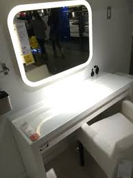 Ikea Vanity Table Malm Dressing Table U0026 Storjorm Lighted Mirror Ikea Dream