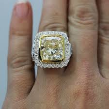 fancy yellow diamond engagement rings 10 67ct cushion cut fancy yellow diamond engagement ring