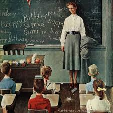 marmont hill happy birthday miss jones by norman rockwell