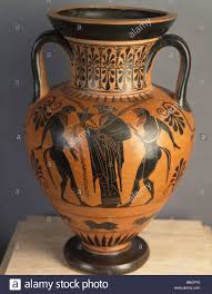 Cummer Museum Of Art Gardens Black Figure Attic Amphora Greek Art Circa 6th Century Bc Usa