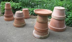 Flower Pot Bird Bath - central midwest gardening diy garden birdbath