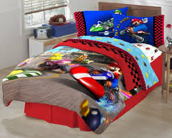 Mario Bros Bed Set Mario The Race Is On Sheet Set Franco Manufacturing Co
