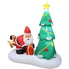 amazon com 6 foot inflatable santa claus climbing on christmas