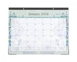 2018 butterfly deskpad calendar 22x17 lianee aqua blue sky