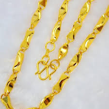 gold colored chain necklace images Wholesale mens fashion coarse gold chain necklace authentic korean jpg