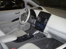 nissan leaf 2017 interior nissan leaf sl cw console interior
