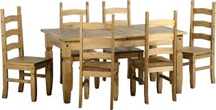Waxed Pine Dining Table Mercers Furniture Corona Mexican Pine 5 0 Dining Table And 4