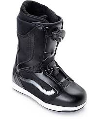womens vans boots encore boa black white womens snowboard boots