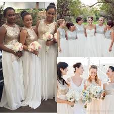 bridesmaid dresses white and gold wedding dresses in jax