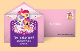 free my little pony invitations my little pony online invitations