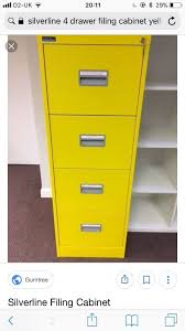 Silverline Filing Cabinet Silverline Yellow 4 Drawer Filing Cabinet Lockable In Barnet