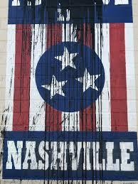 Nashville Flag 12south U0027i Believe In Nashville U0027 Mural Defaced
