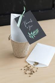 seed wedding favors botanical herb wedding favors the elli