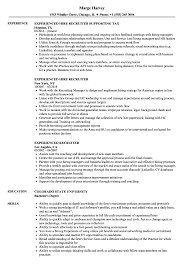 recruiter resume exles experienced recruiter resume sles velvet