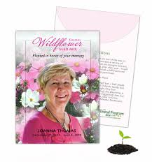 wildflower seed packets the funeral program site launches new custom seed packets product line